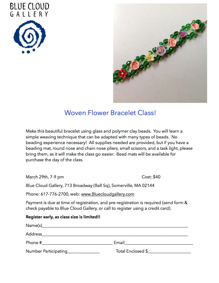 Woven Flower Bracelet Class Blue Cloud